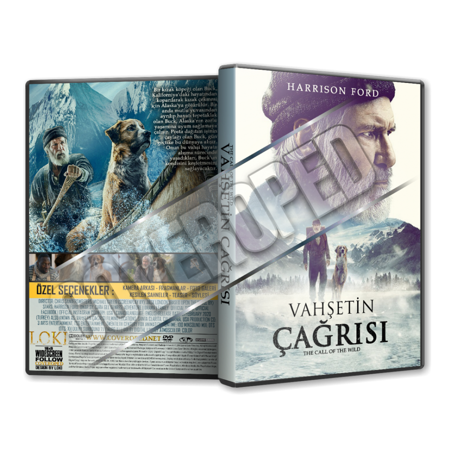 Vahsetin Cagrisi The Call Of The Wild 2020 Turkce Dvd Cover Tasarimi